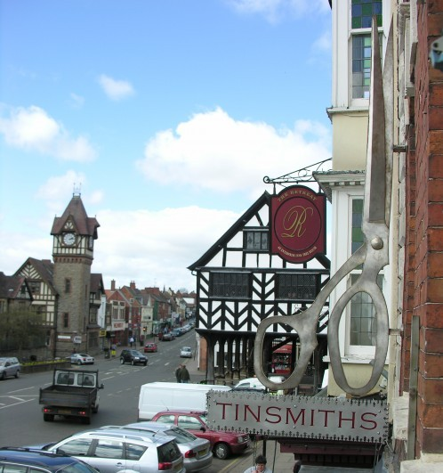 high street ledbury tinsmiths entrance to market house
