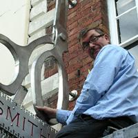 alex clive designer and partner at Tinsmiths