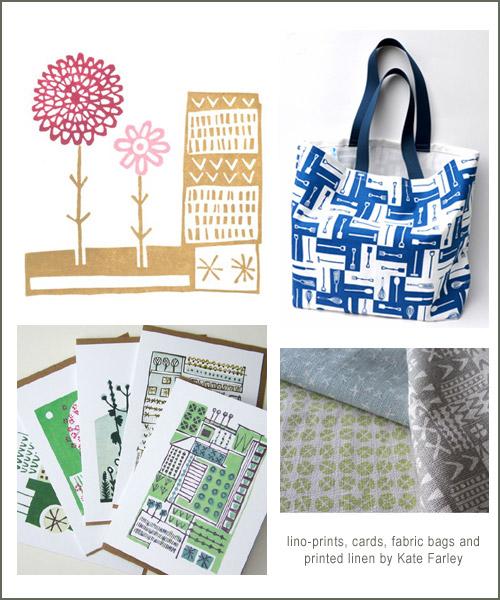 Kate Farley prints bags fabrics