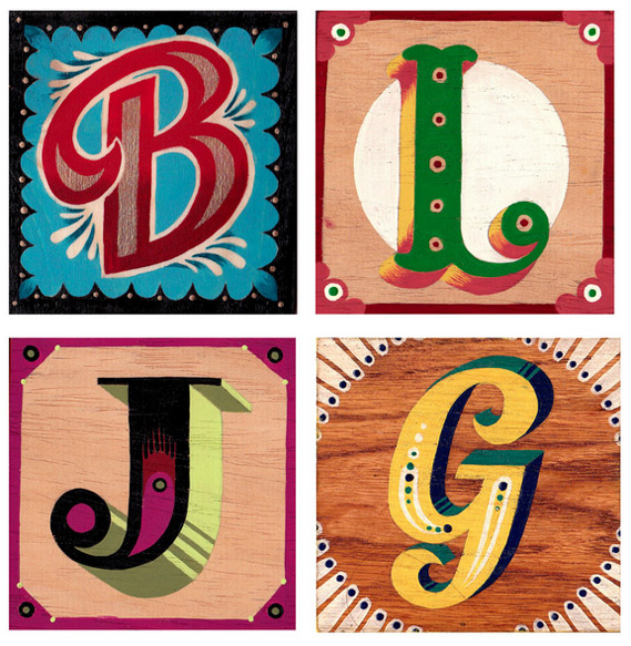Hand painted letters by Hannah Whaler