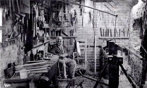Philip Clissett in his workshop