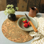 Large Round Cork Placemat