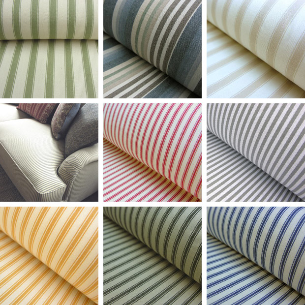 Cotton Ticking Fabrics from Tinsmiths