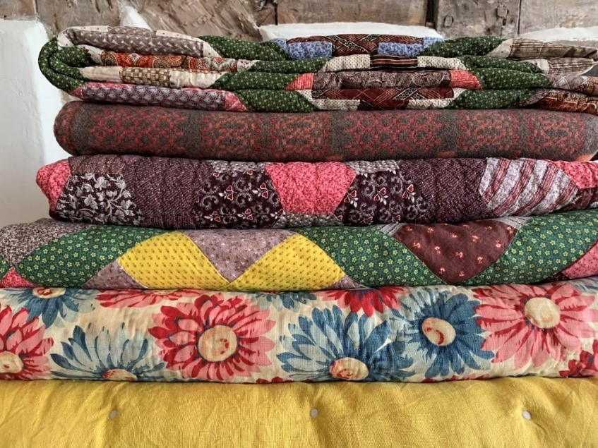 Tinsmiths Antique Patchwork Quilts Stack
