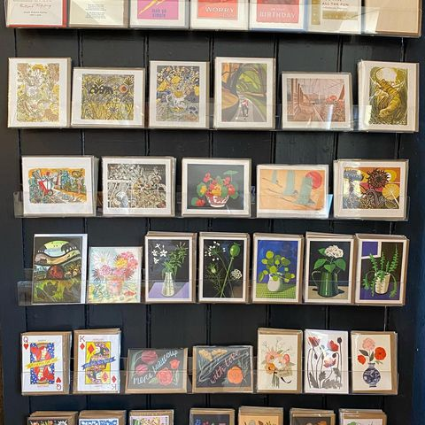 Card wall Tinsmiths stationery and gifts