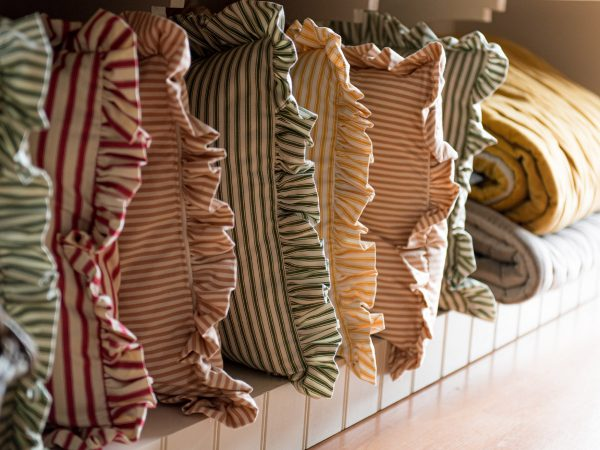 Tinsmiths ruffle cushion homeware shop reopening