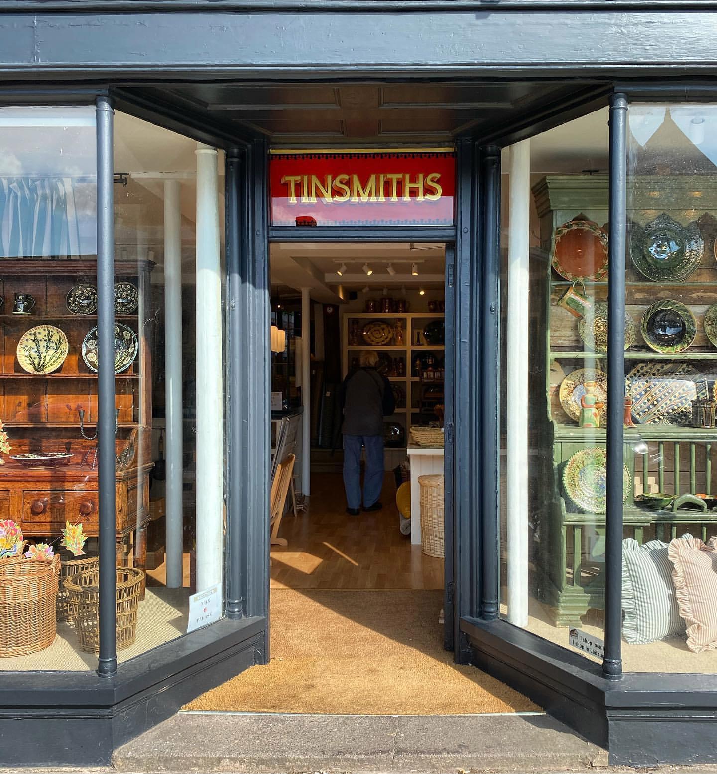 tinsmiths shop front reopening December 2020