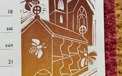 Tinsmiths 'Ledburyshire' Calendar June 2021: Hartpury Bee Shelter