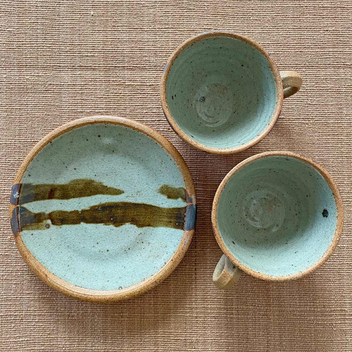 Jack Welbourne Pottery Cups Plates Tinsmiths